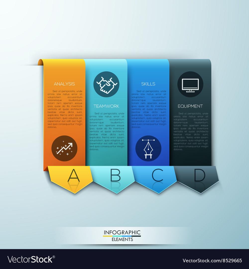 Modern arrow business template vector image