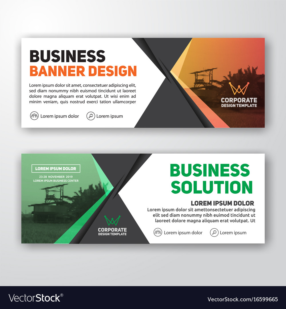 modern corporate banner background royalty free vector image