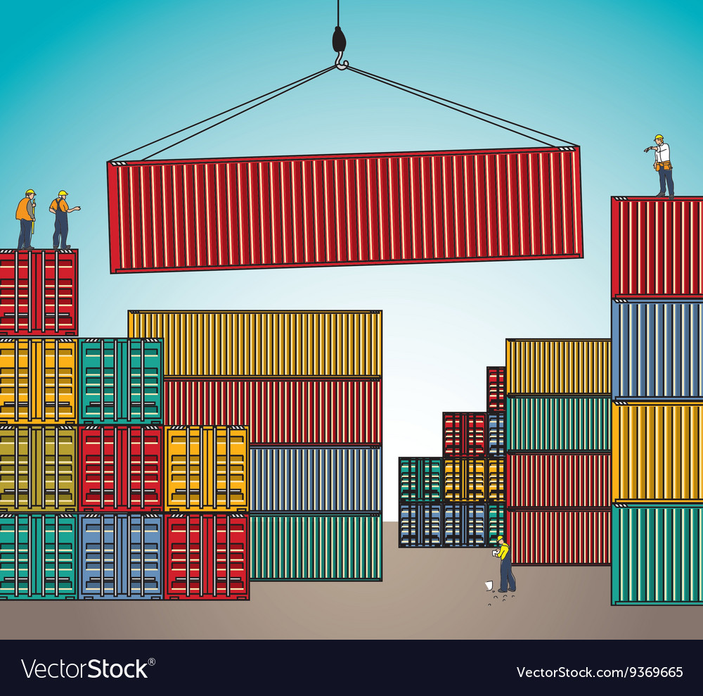 Sea container lading shipping loading cargo