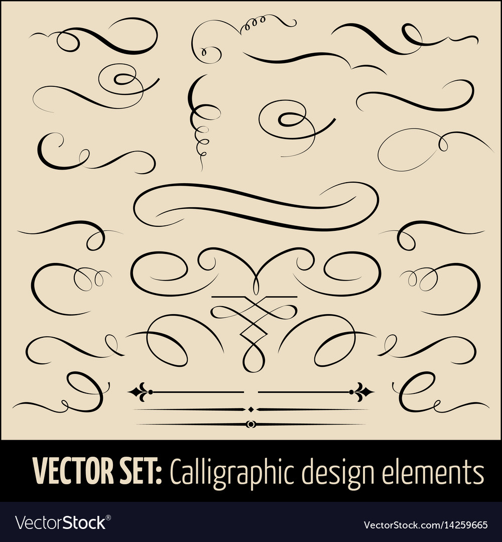 Set of calligraphic and page
