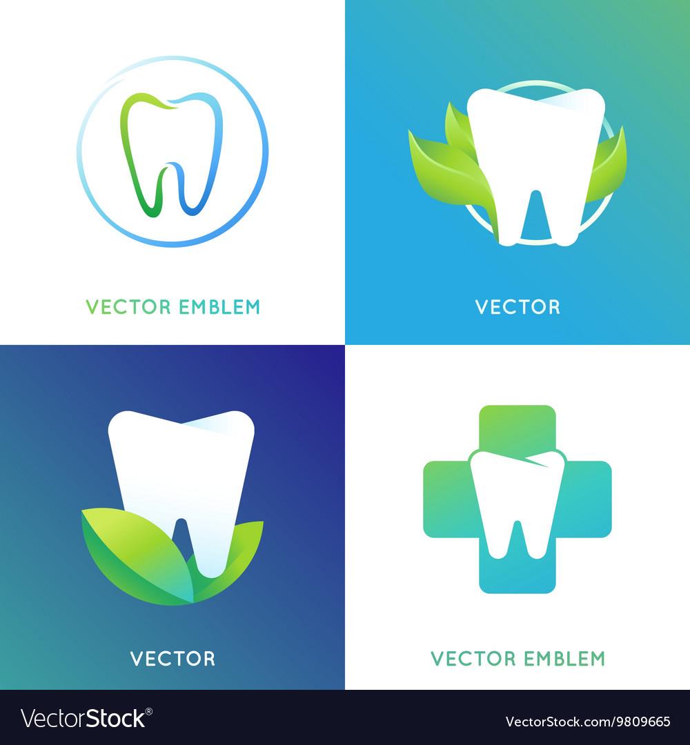 Set of logo design template in bright gradient