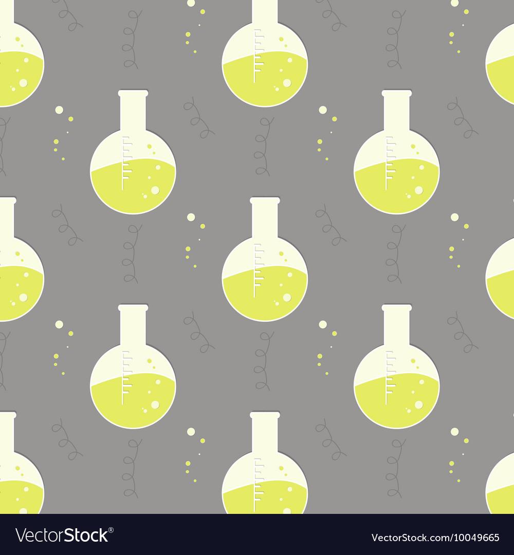 Test tube glassware Chemistry pattern vector image