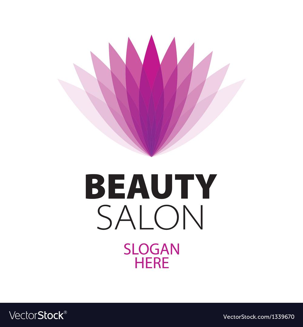 Abstract logo beauty salon vector image