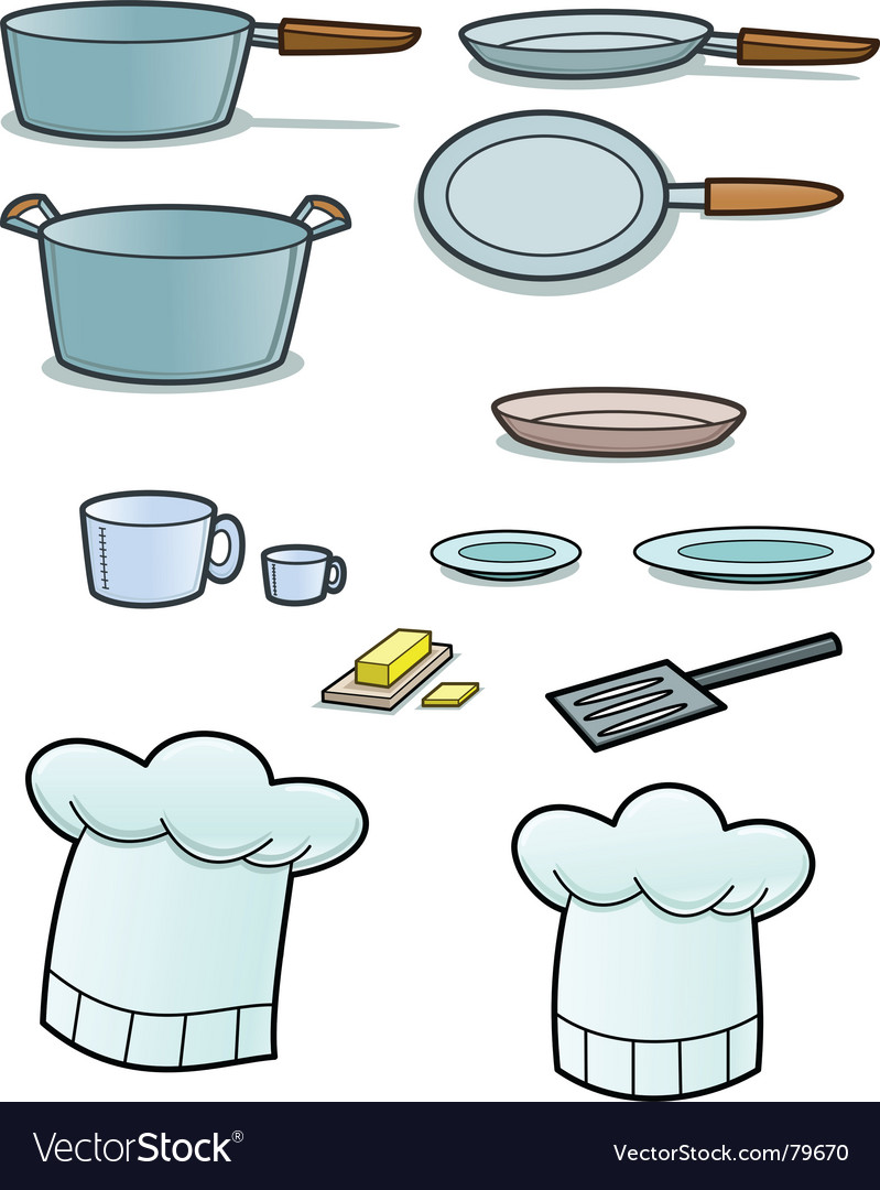 Cooking implements vector image
