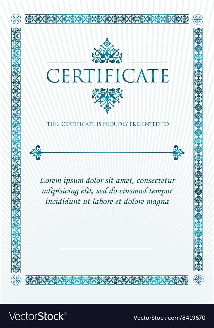 Elegant Classic Certificate of achievement