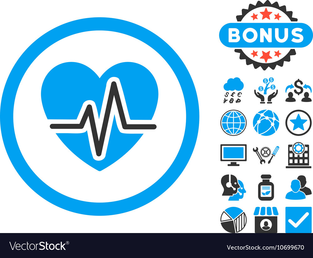 Heart Diagram Flat Icon with Bonus