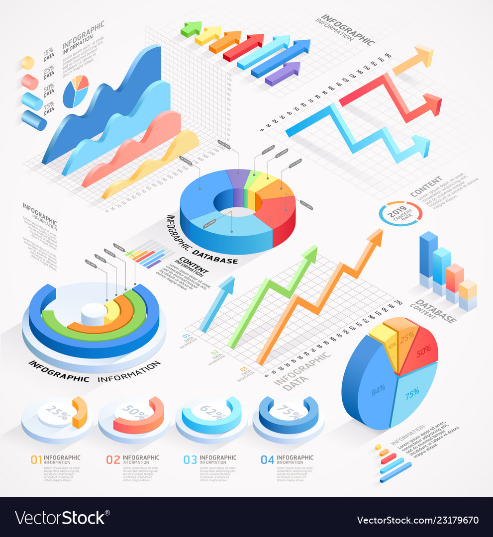 Infographics isometric elements icon