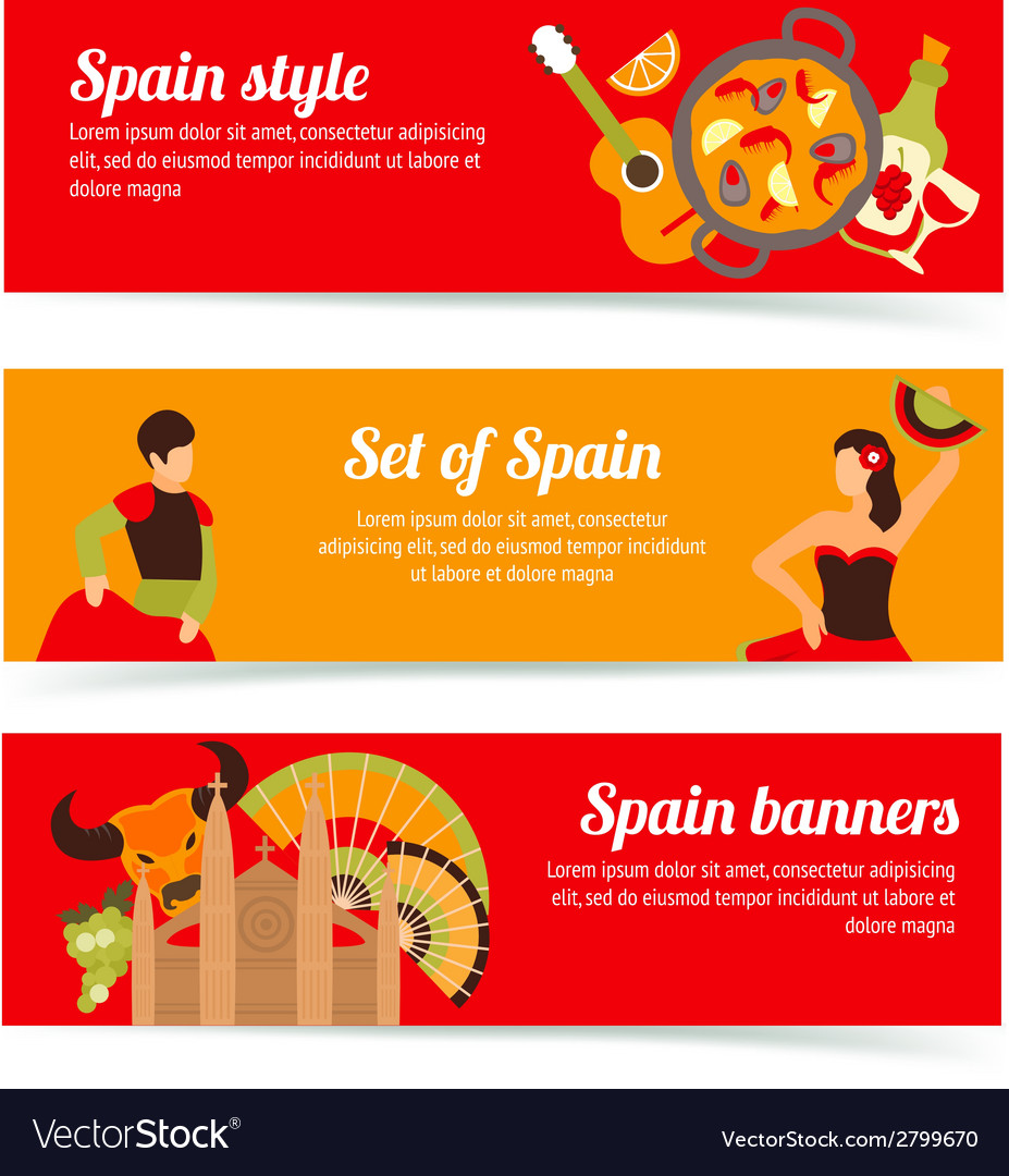 Spain banners set