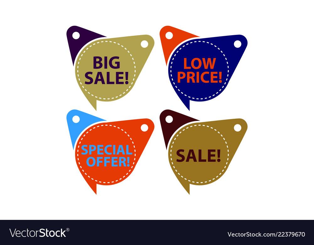 Tag shop discount template set