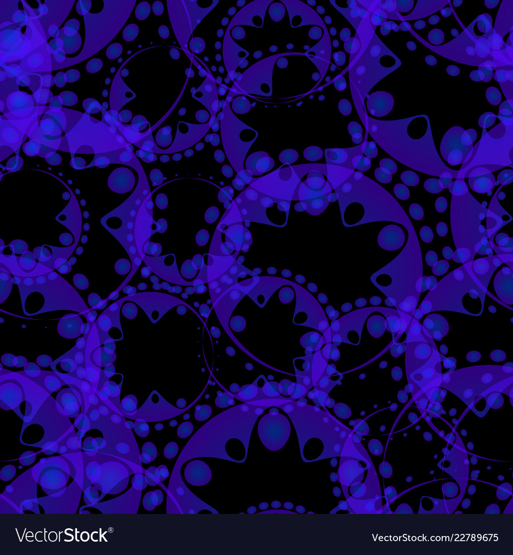 Abstract seamless pattern of purple tentacles and
