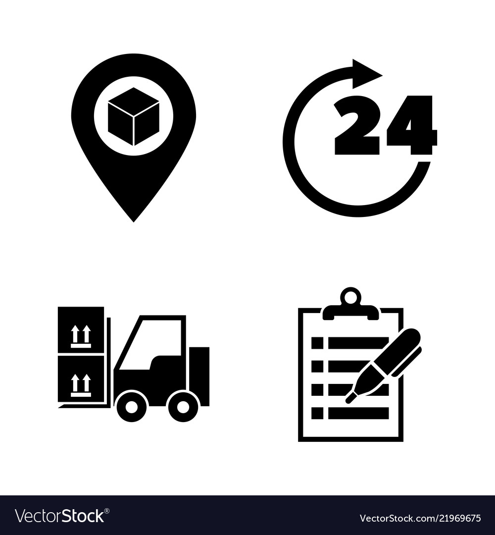 E-commerce shopping simple related icons
