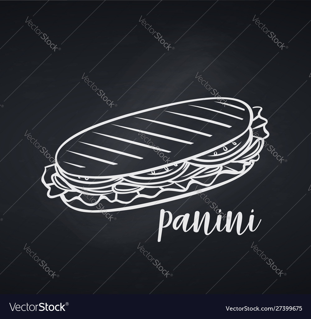 Hand drawn panini or sandwich