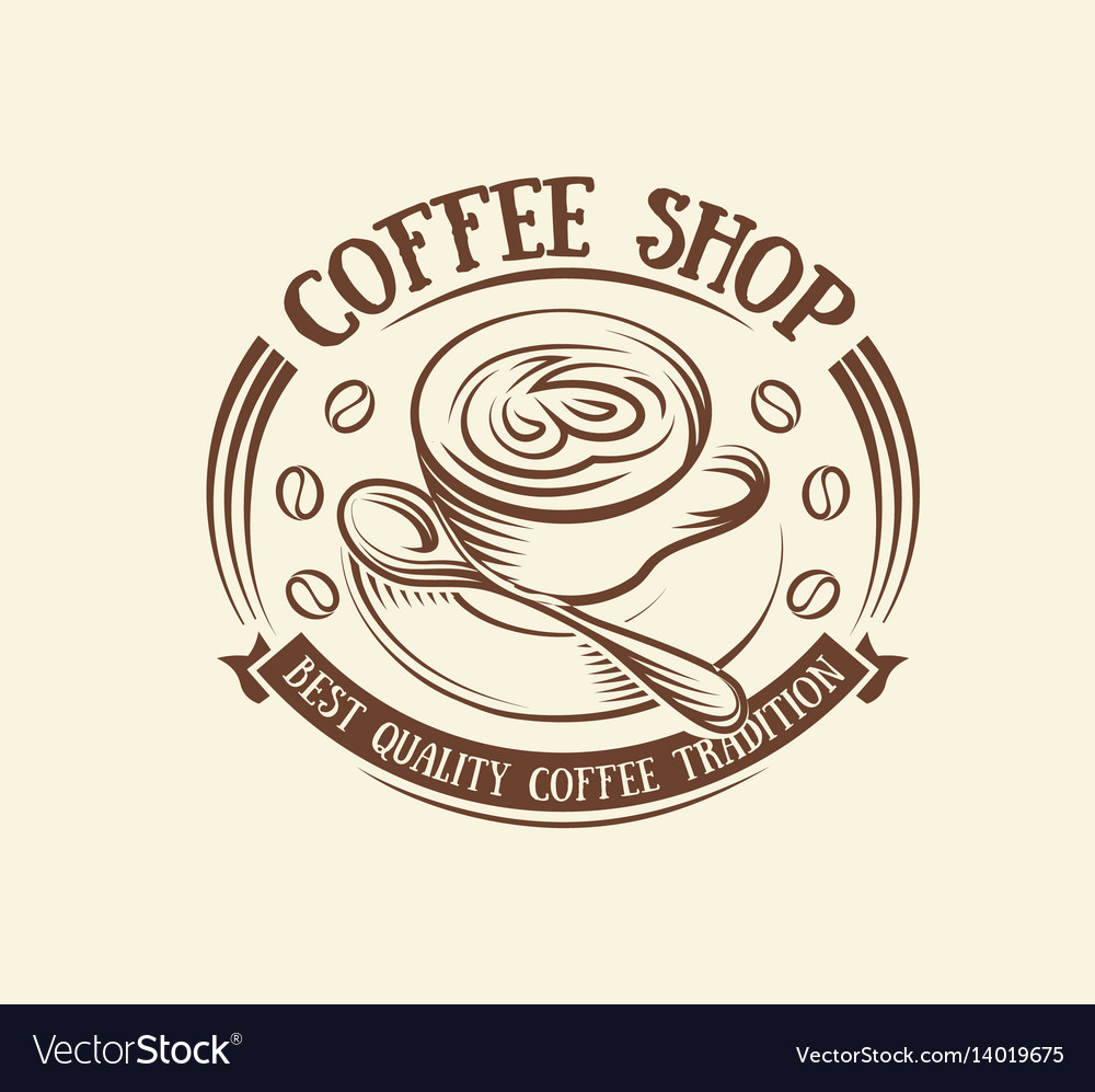 Isolated abstract brown color coffee cup logo