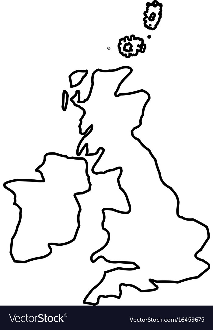 Map Of Uk Black And White.Map Of United Kingdom Black Color Icon
