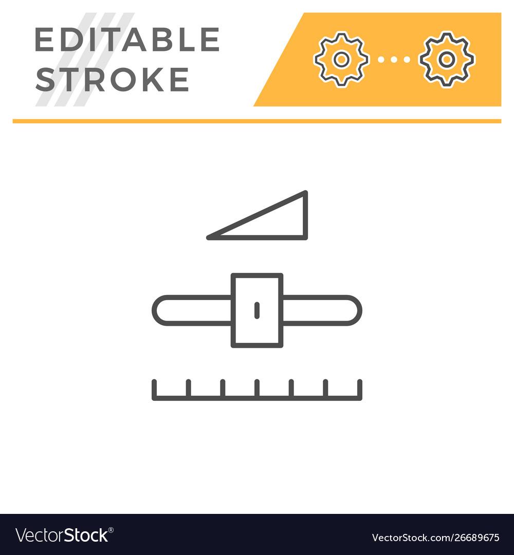 Settings editable stroke line icon