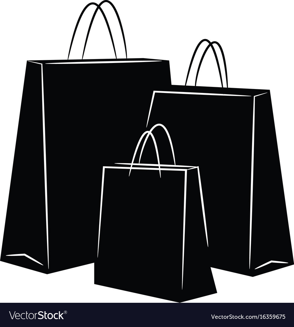 shopping bags silhouettes royalty free vector image