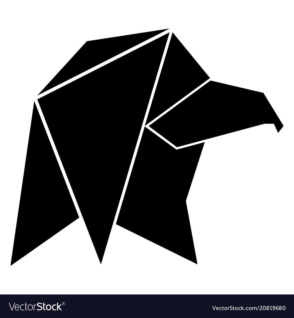 Abstract low poly eagle icon