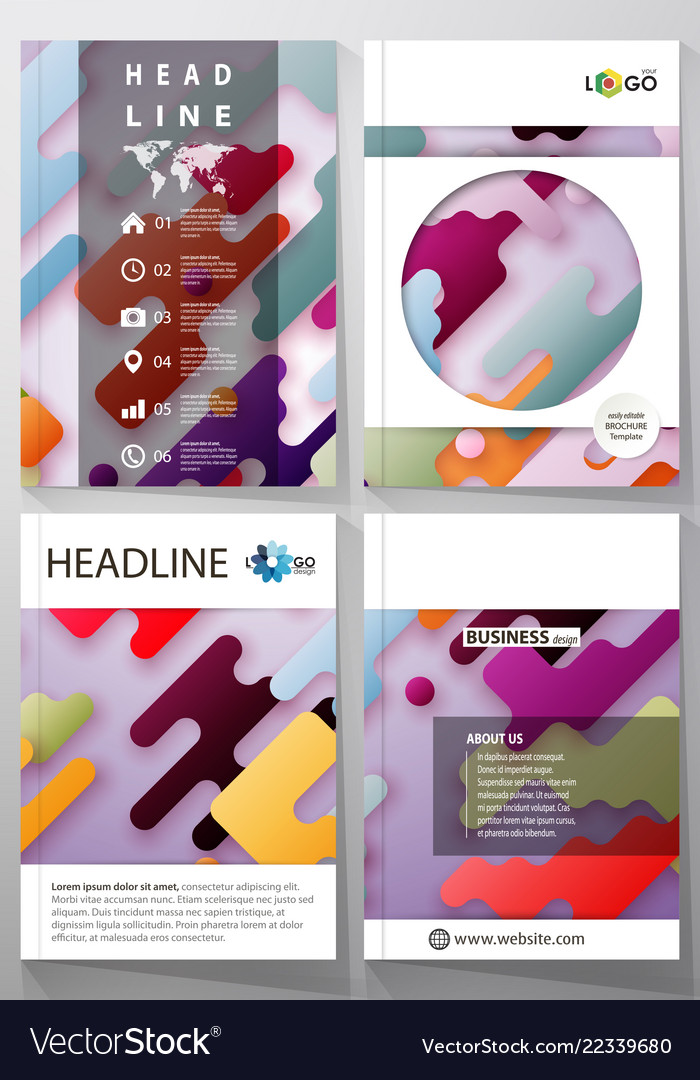 Business templates for brochure flyer report