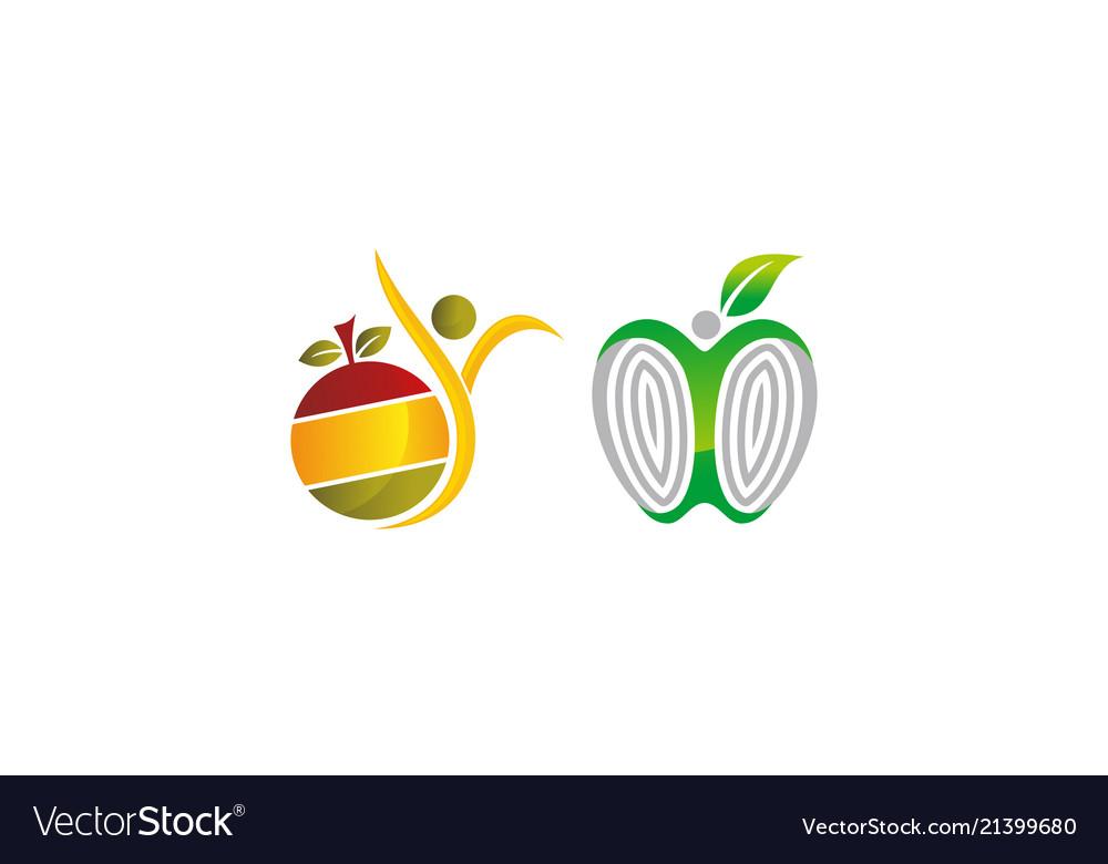 Health fruit template set