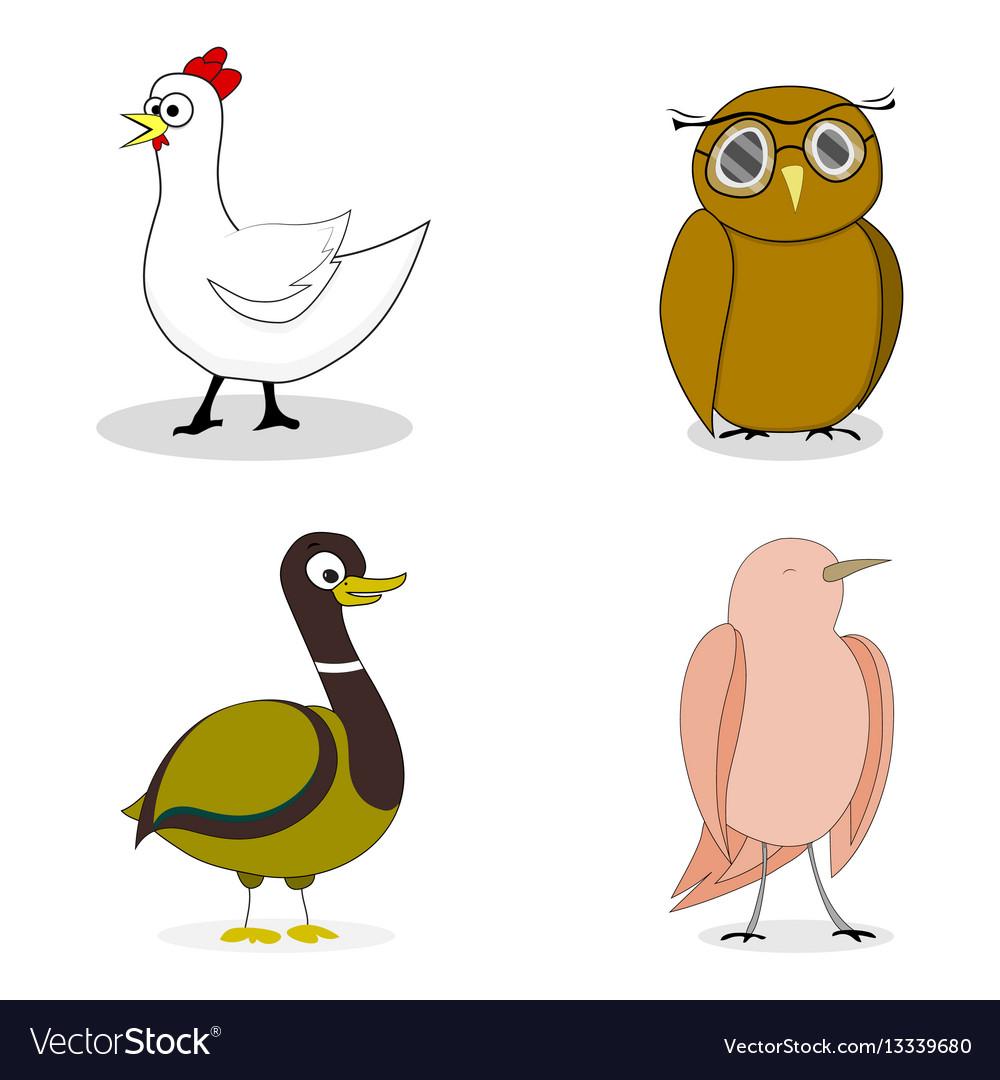 Set of birds character