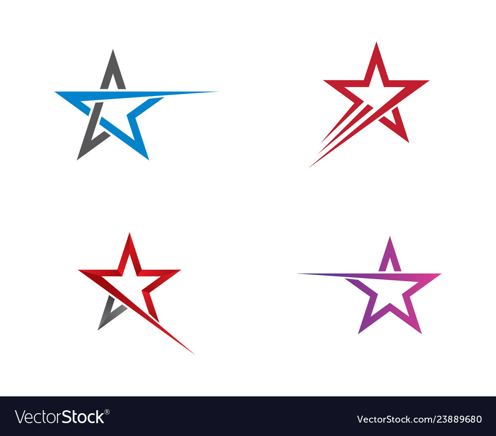 Star logo template design