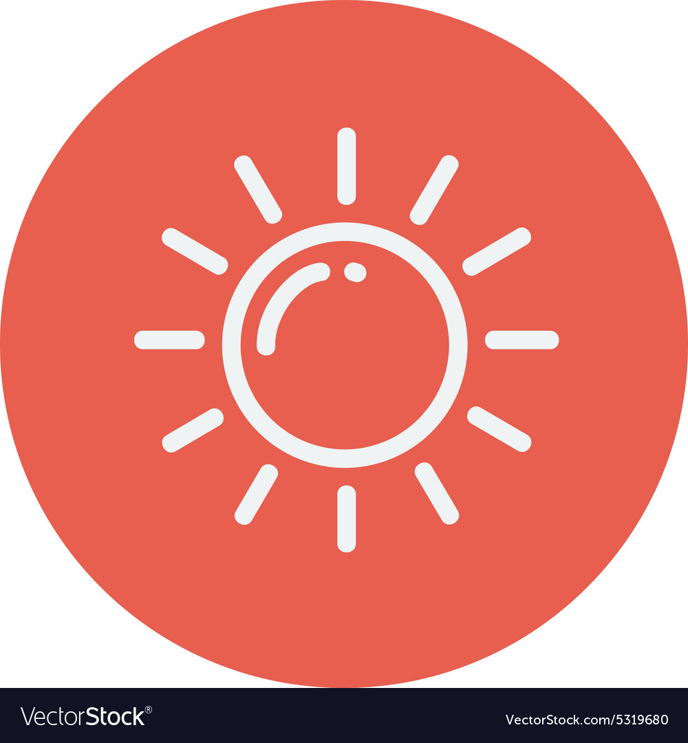 Sun thin line icon