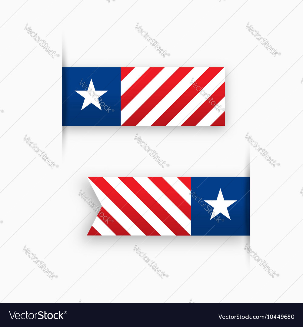 USA paper tags star and stripes
