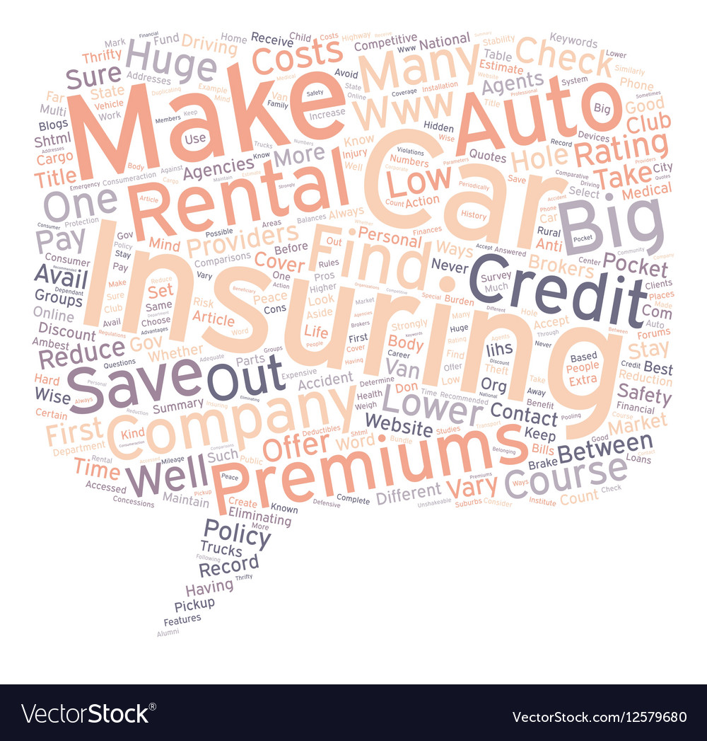 Ways to Save Big on Auto Insurance text background vector image