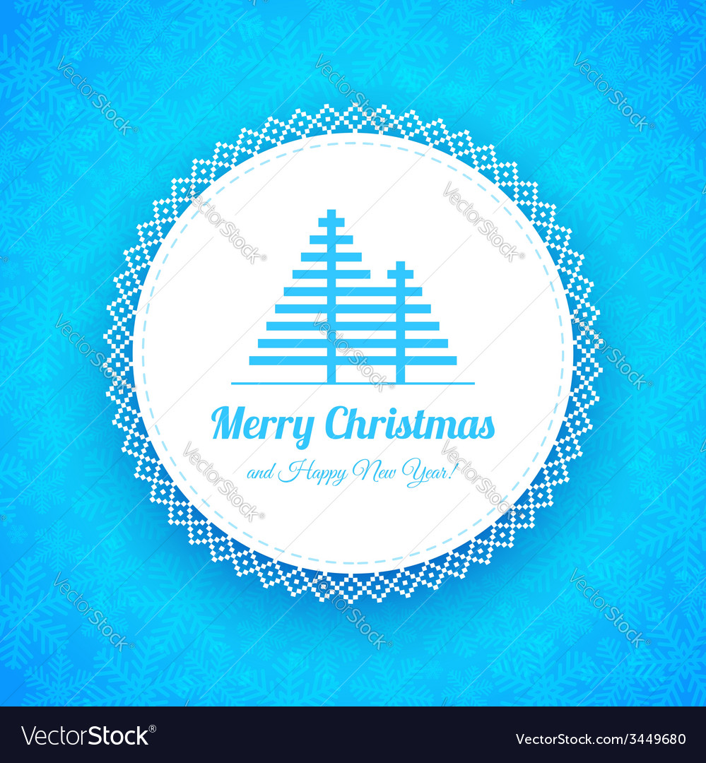 Winter Christmas Background with snowflakes and