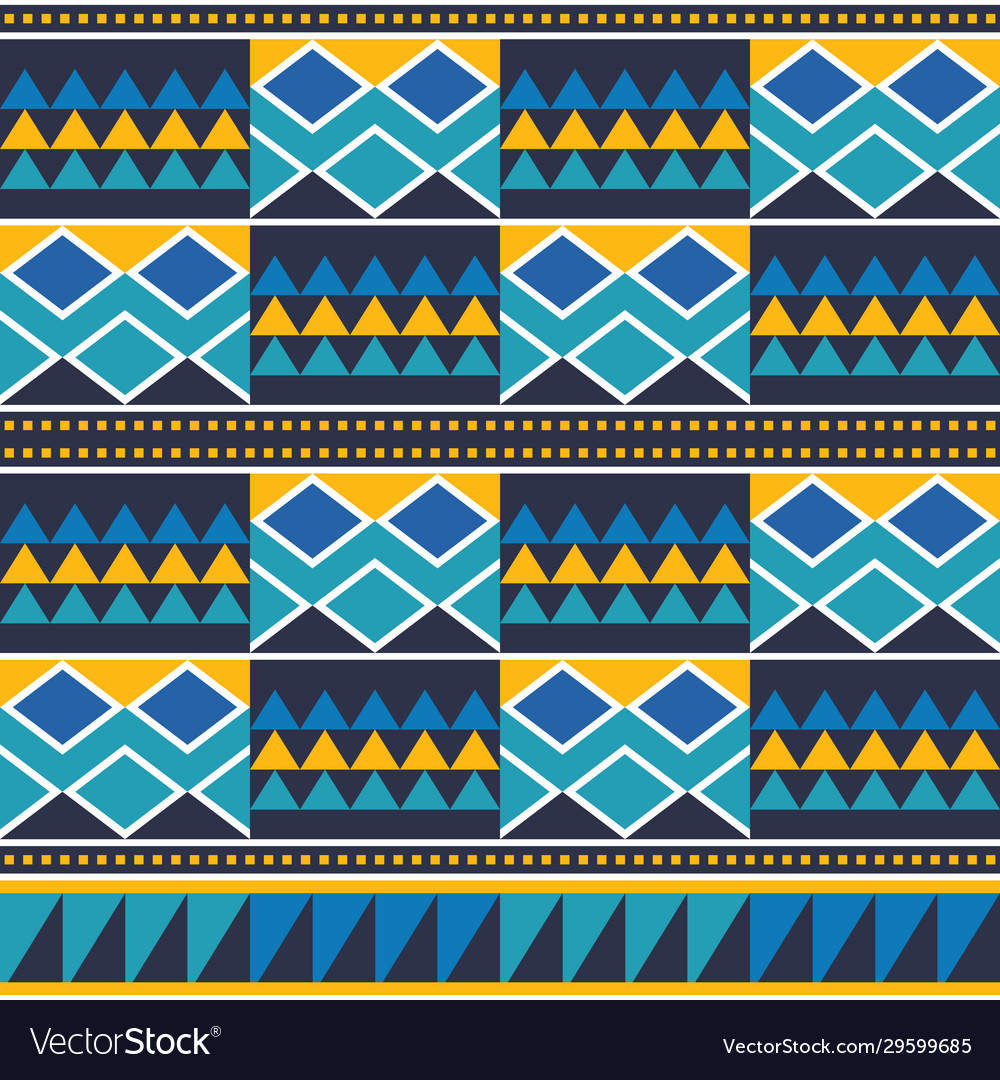 African tribal kente cloth style pattern