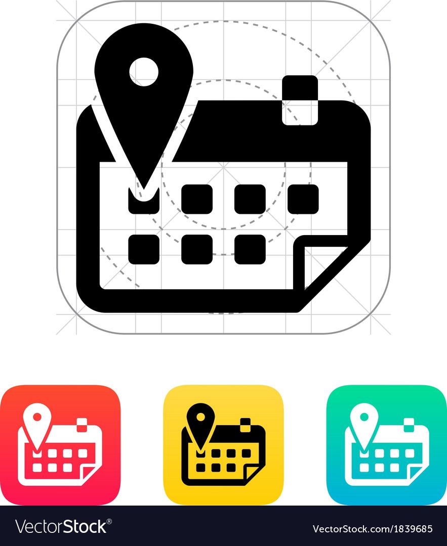 Calendar with location icon