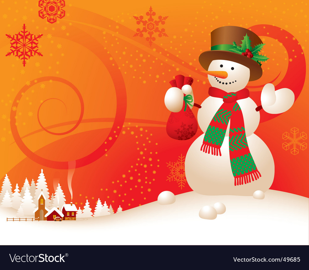 Christmas New Year S Greeting Card Vector Image