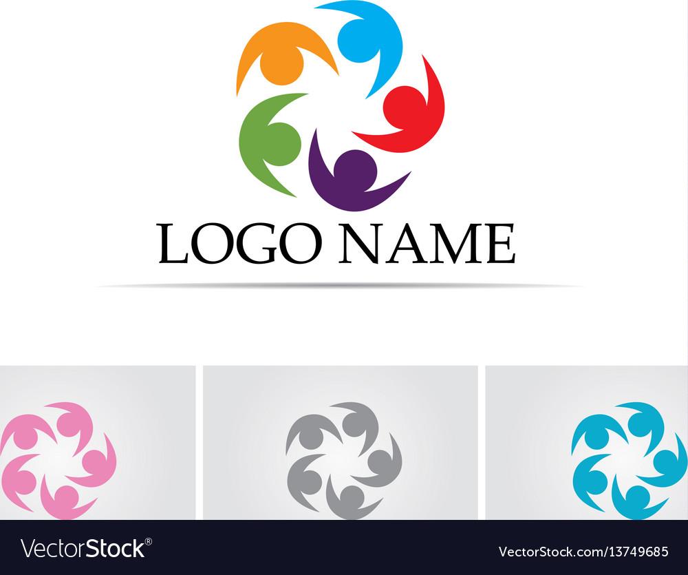 Community people logo five team