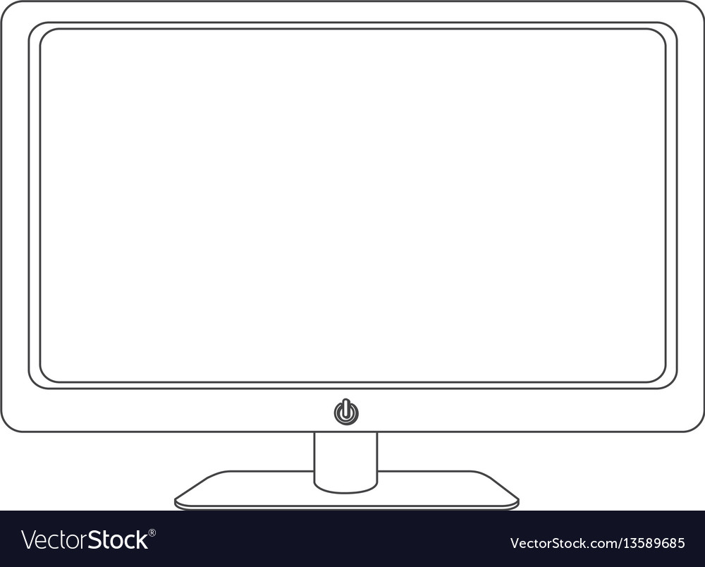 Grayscale contour of screen monitor