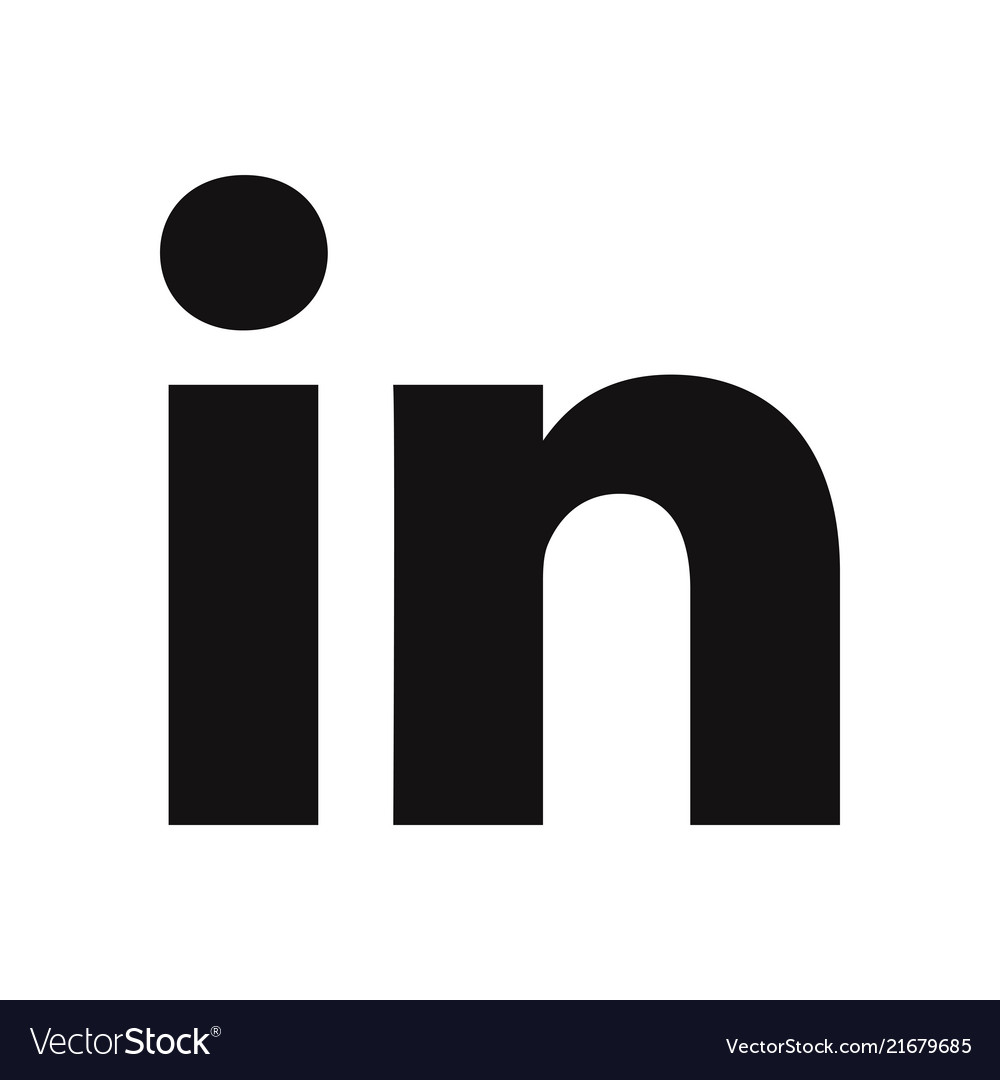 linkedin logo icon social media symbol royalty free vector