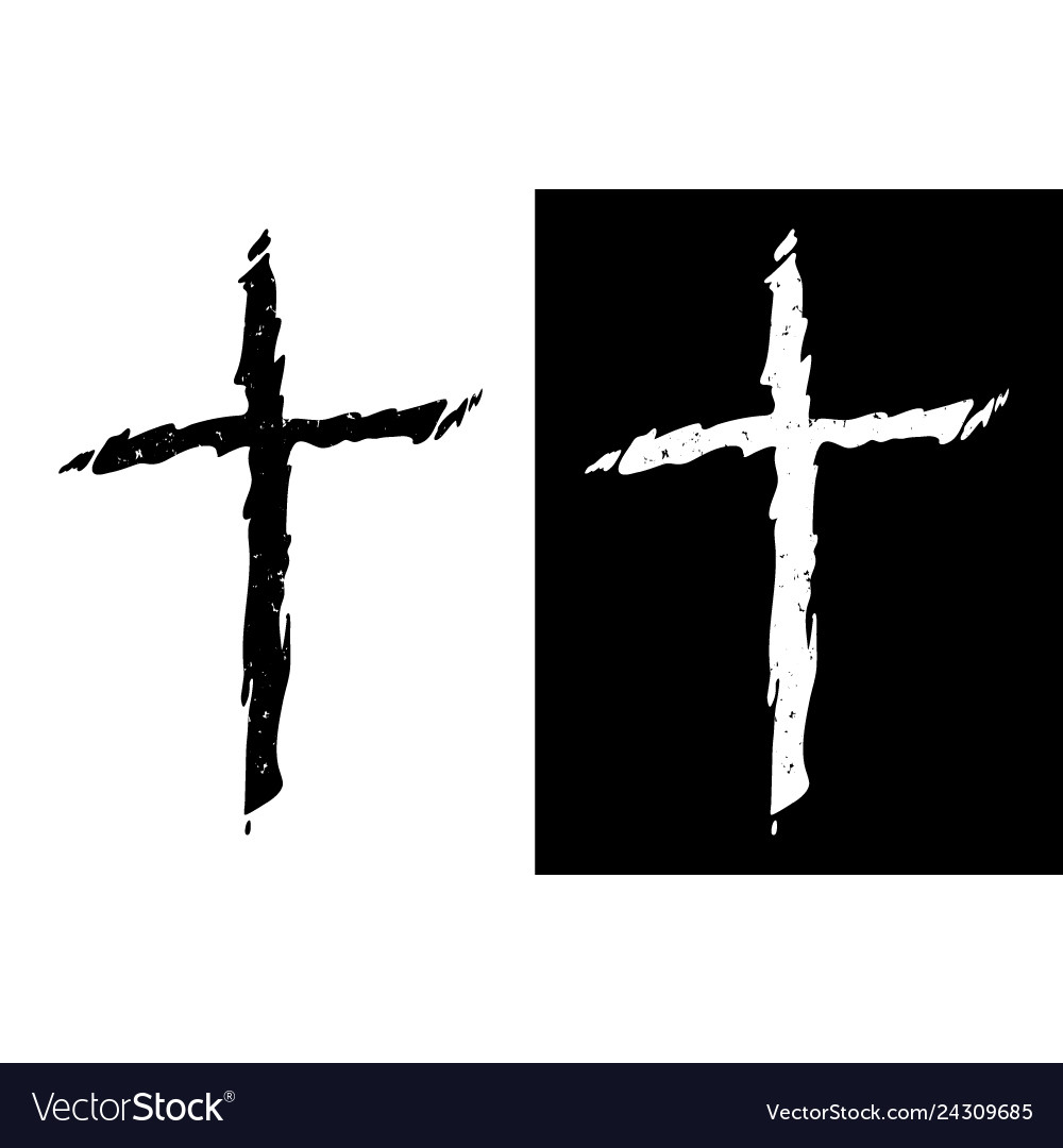 Old rugged distressed christian cross