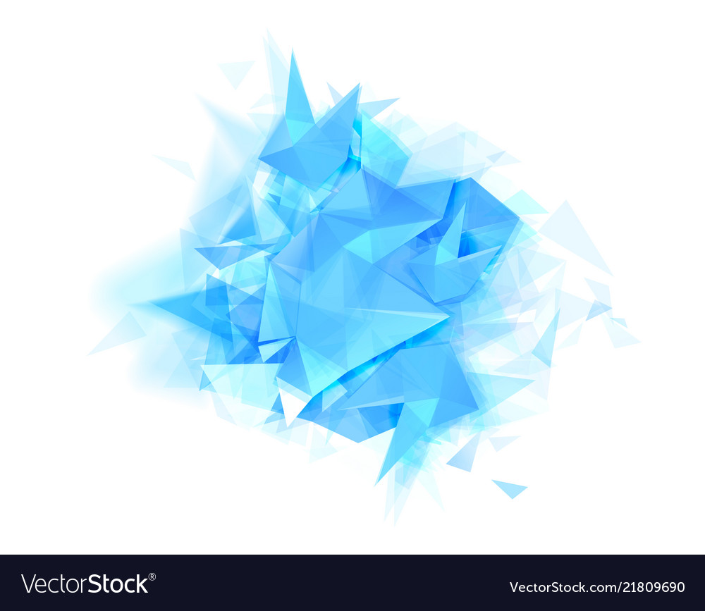 Abstract banner with blue color and graphic