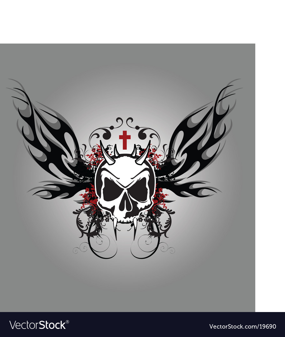 Darkness skull vector