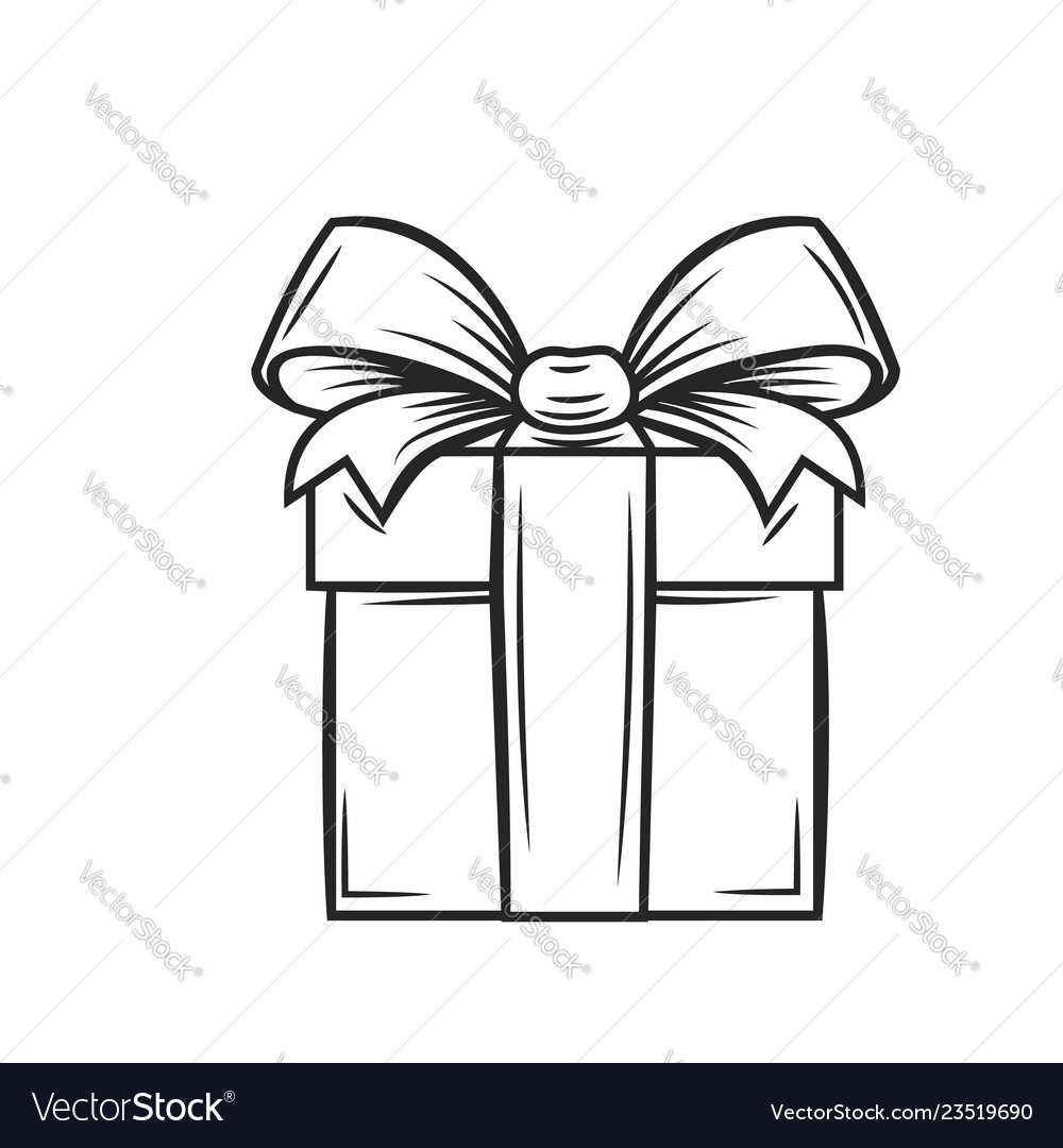 Gift icon outline