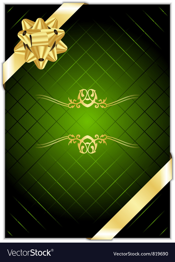 Green gold present background