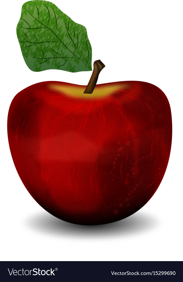 Realistic apple red