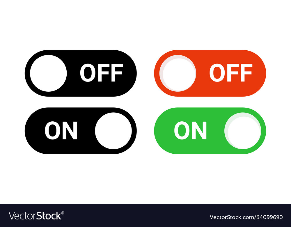 Switch off on button toggle digital turn icon