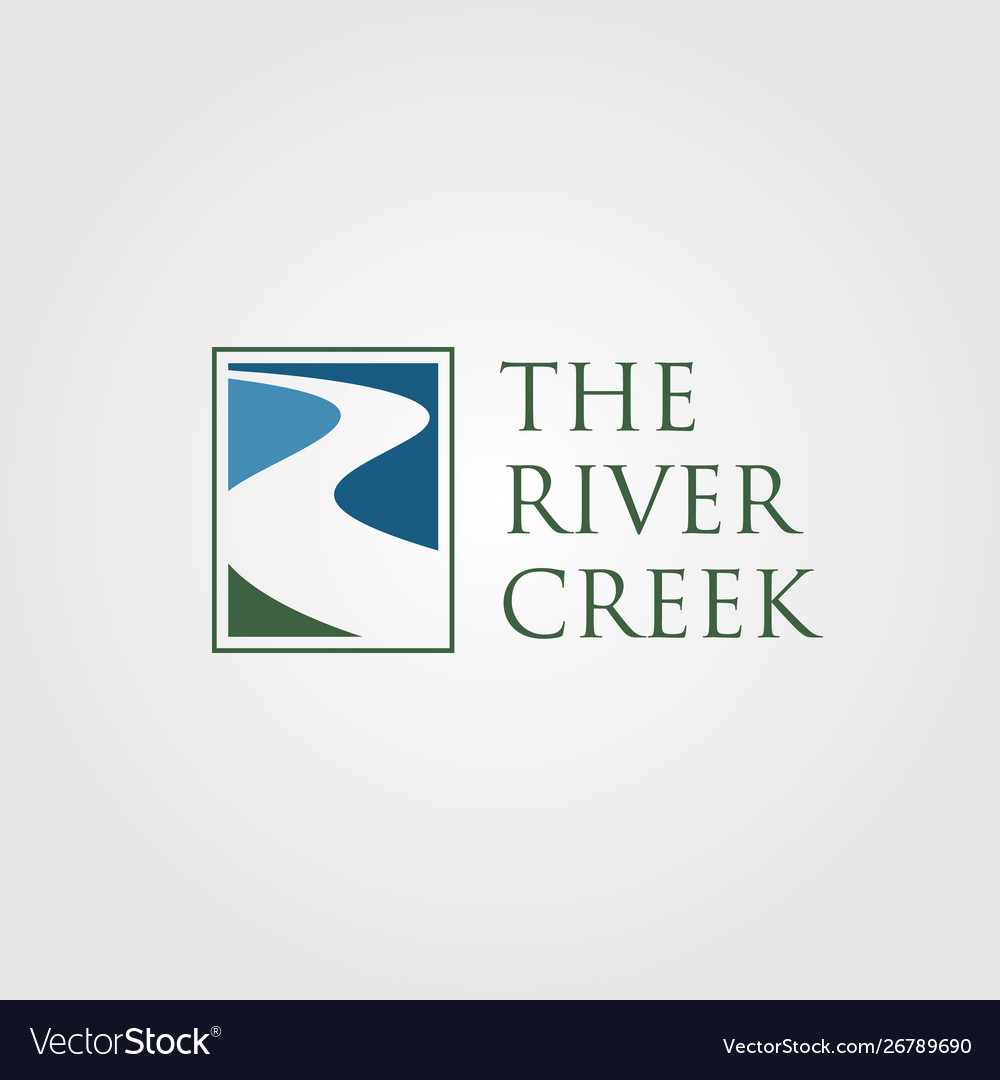 Vintage river creek logo designs