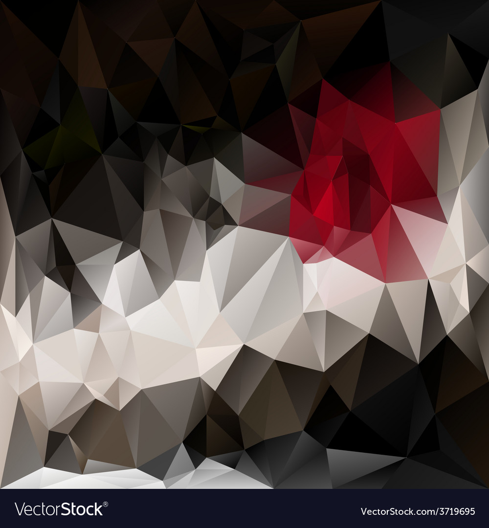 Black red polygonal triangular pattern background