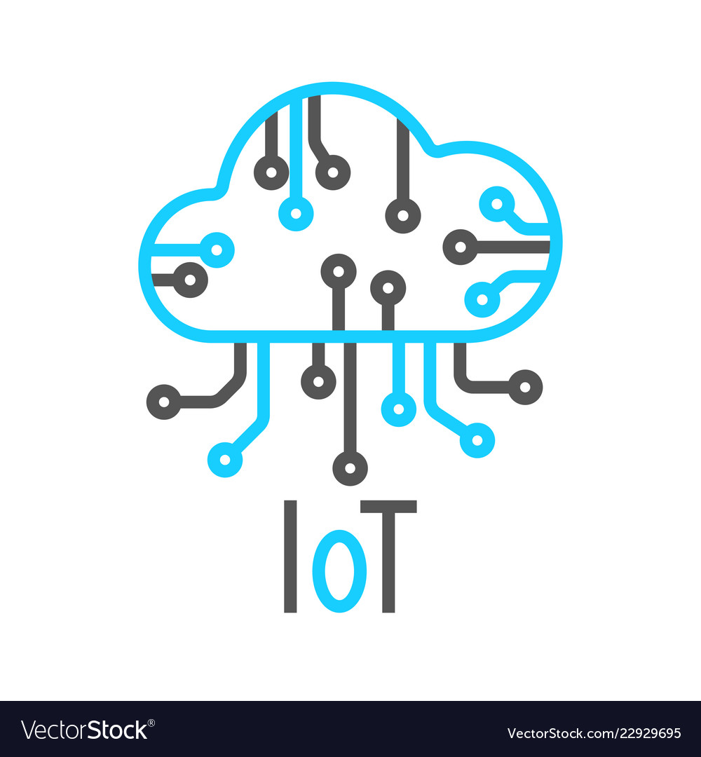 Cloud iot internet of things icon