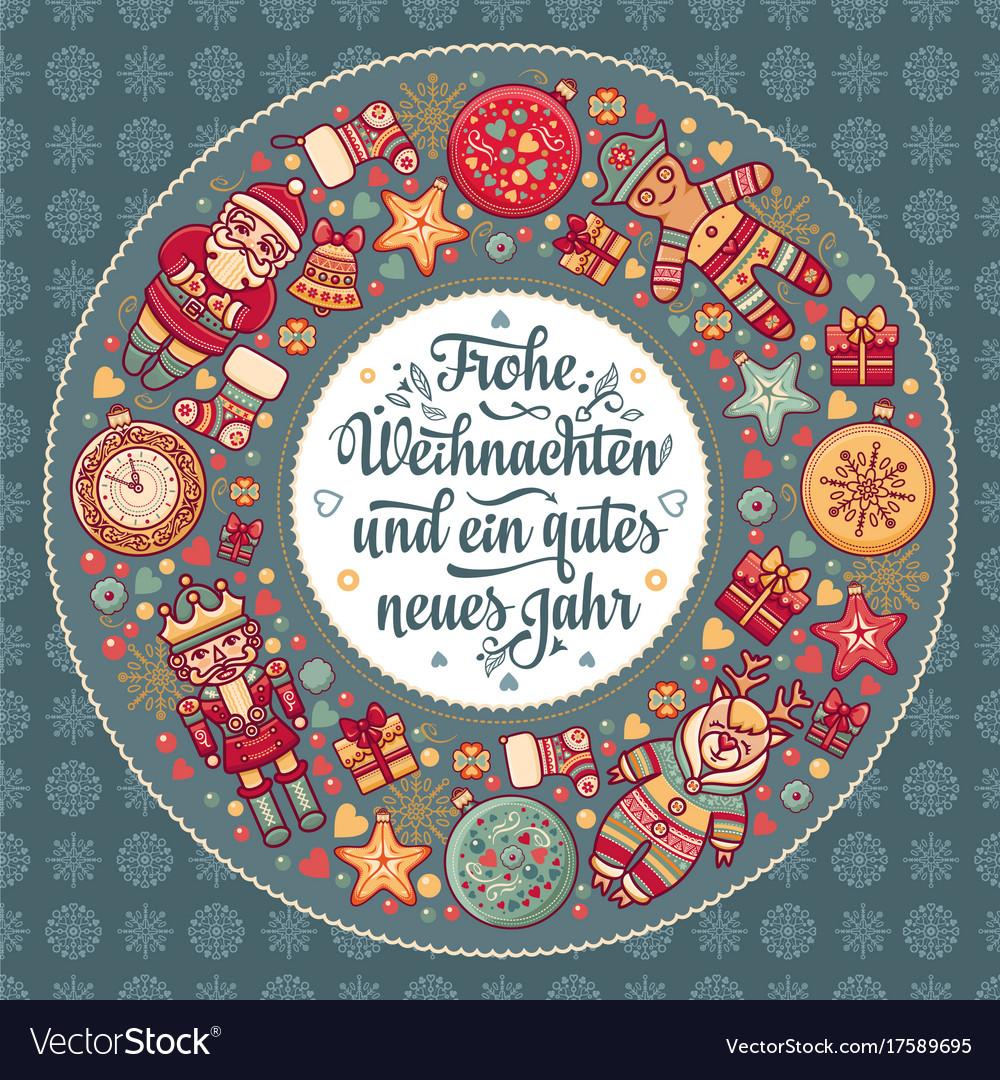 Frohe Weihnachten Aus Deutschland.Frohe Weihnacht Xmas Congratulations In Germany