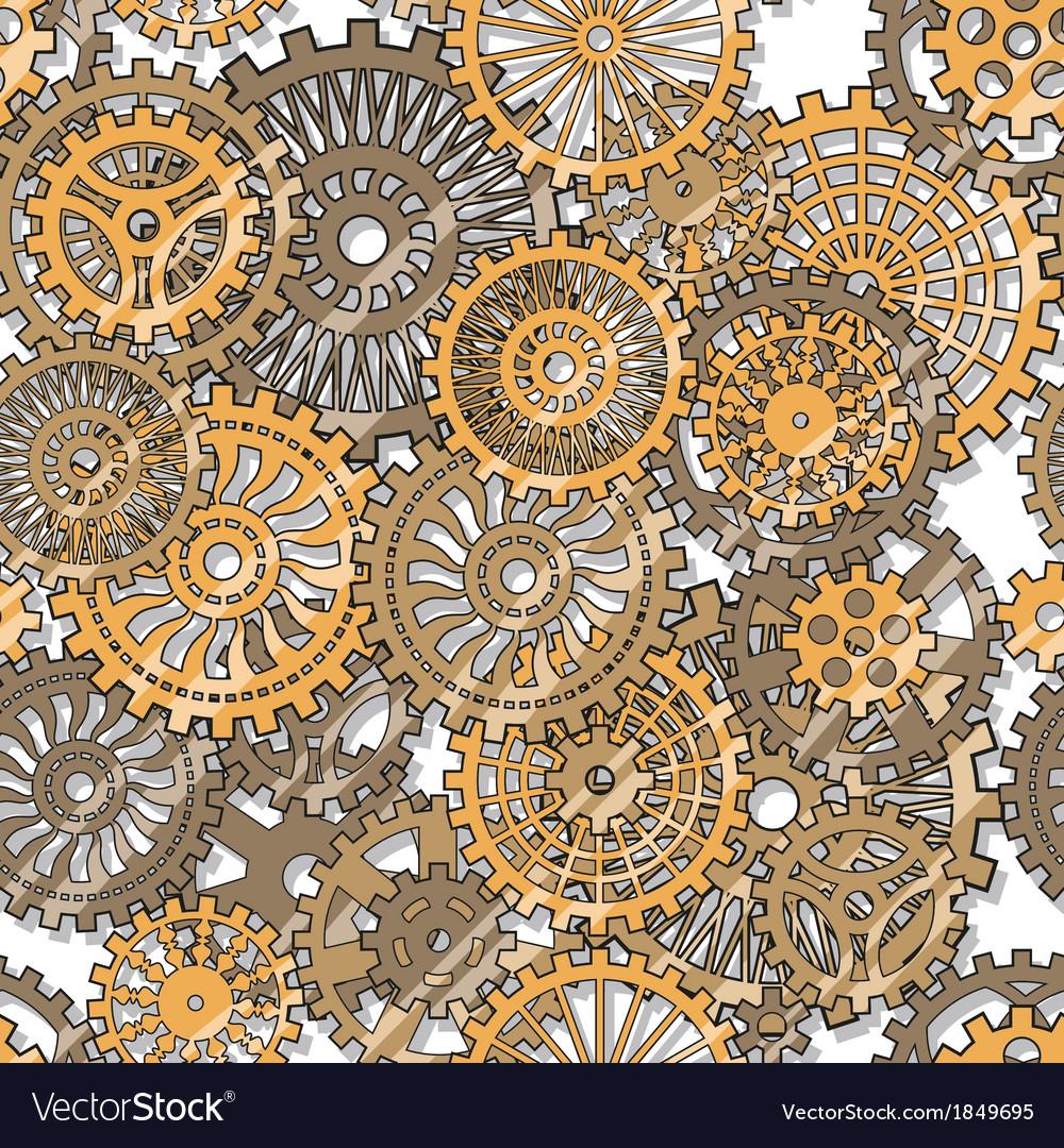 Gear wheels vector image