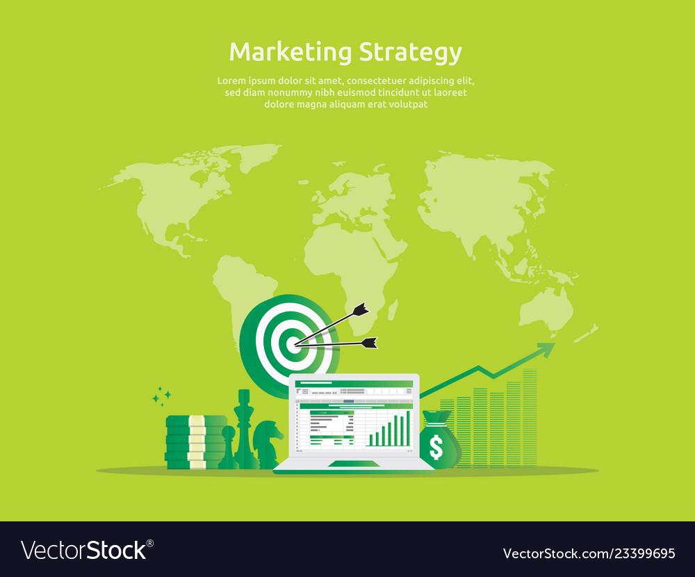 Marketing strategy spreadsheet on screen business