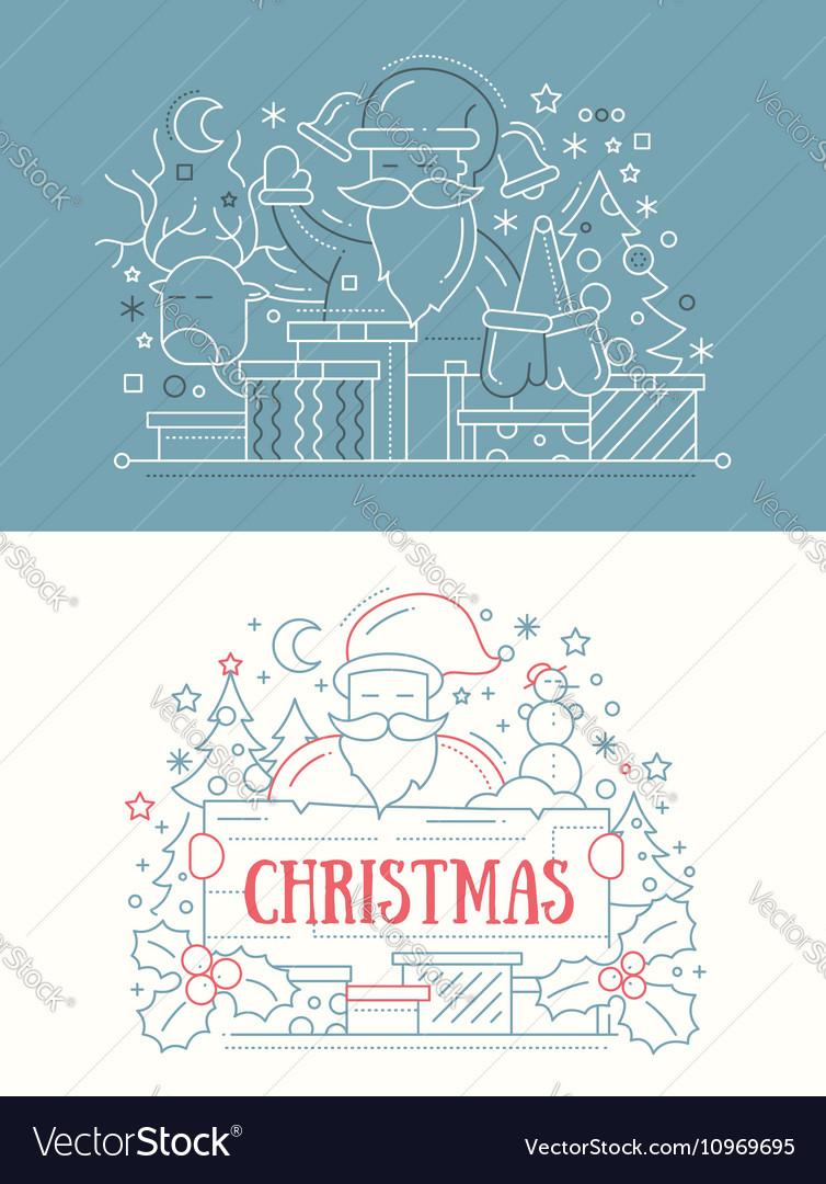 Merry Christmas - line design cards
