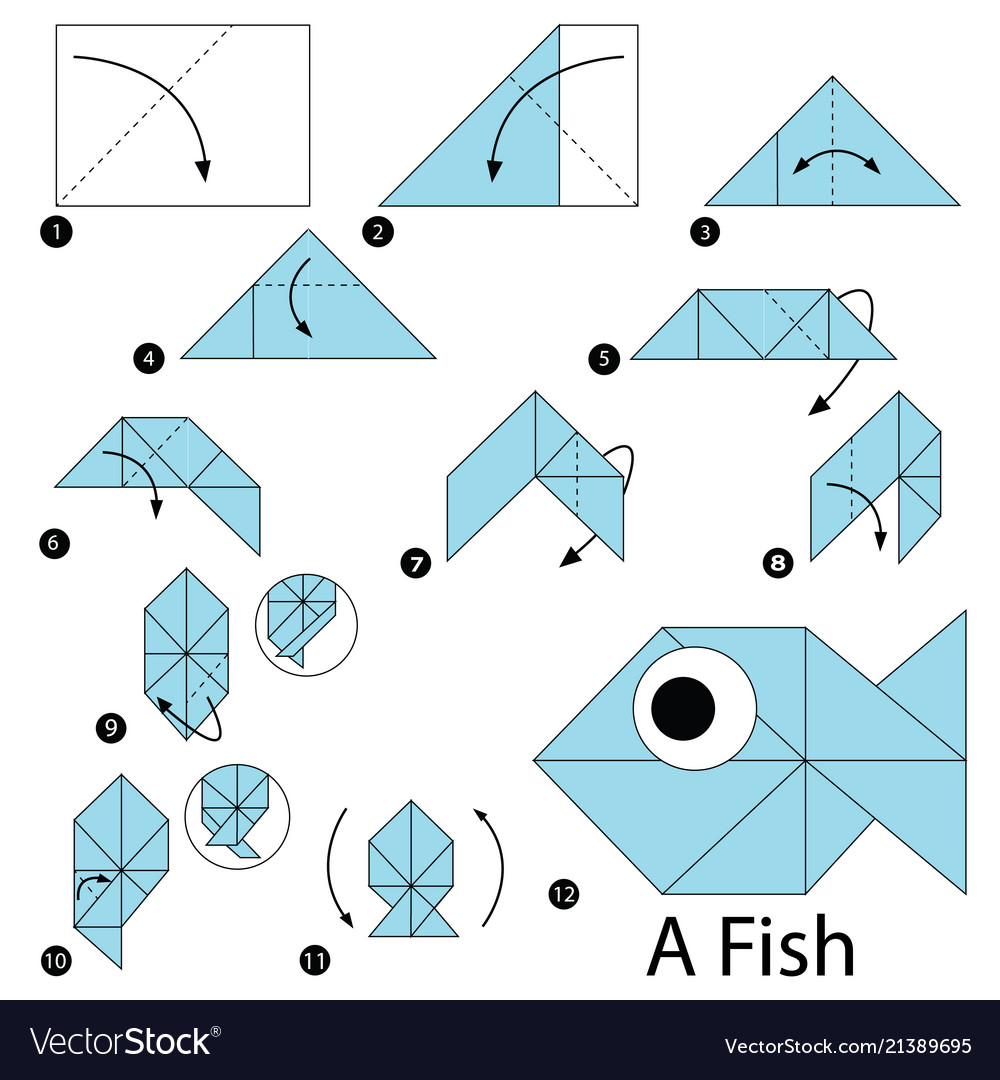 How to Make an Origami Fish Step by Step Instructions | Free ... | 1080x1000